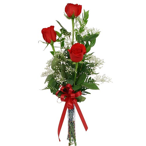 3 Imported Red Roses