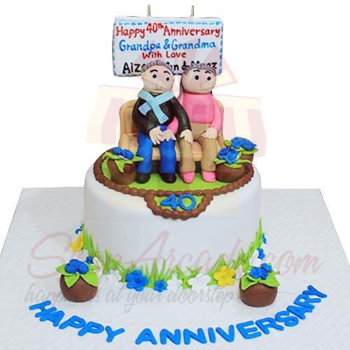 40th Anni Cake 7lbs-Sachas
