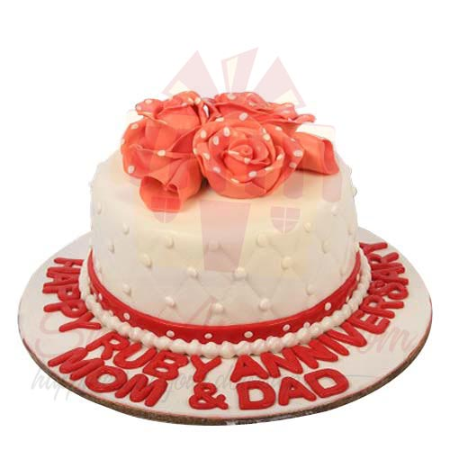 Dotted Flower Cake 5lbs-Sachas