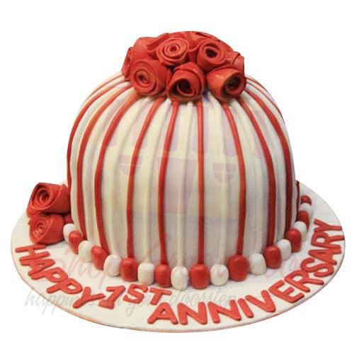 Stripe Anni Cake 6lbs-Sachas