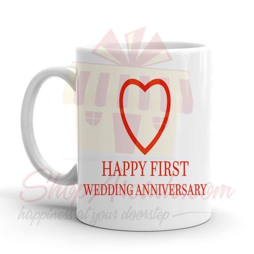Heart Wedding Anni Mug