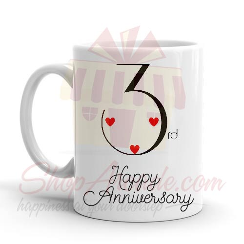3rd Anniversary Mug