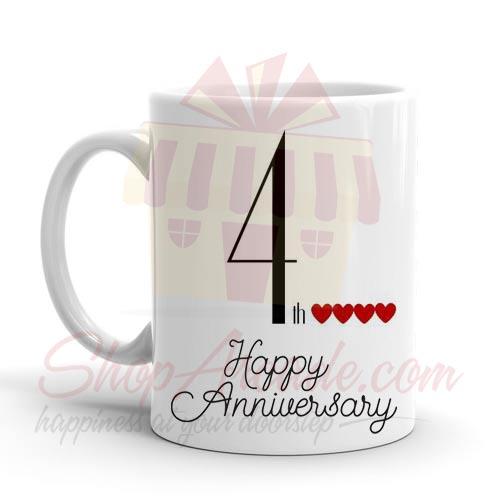 4th Anniversary Mug