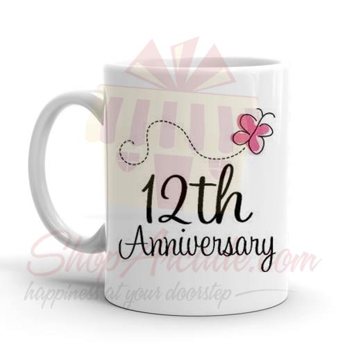 12th Anniversary Mug