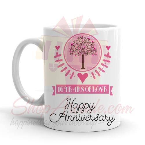 16th Anniversary Mug