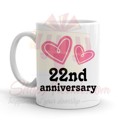 22nd Anniversary Mug