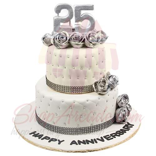 Silver Jublee Cake 12lbs-Sachas