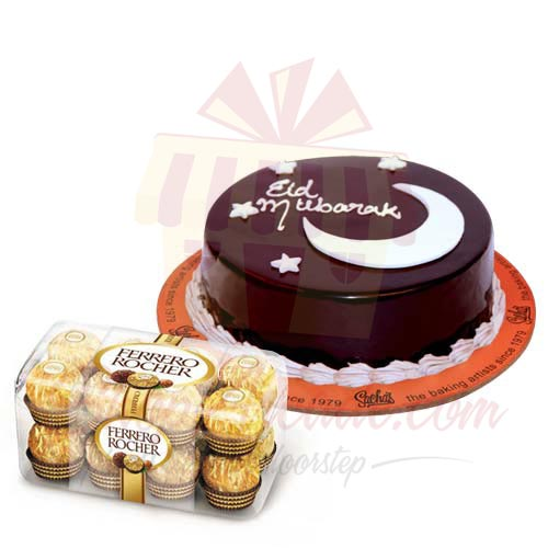 Eid Cake With Chocs