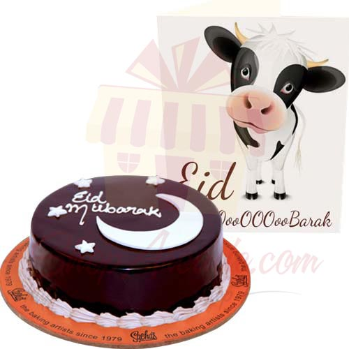 Bakra Eid Card And Cake