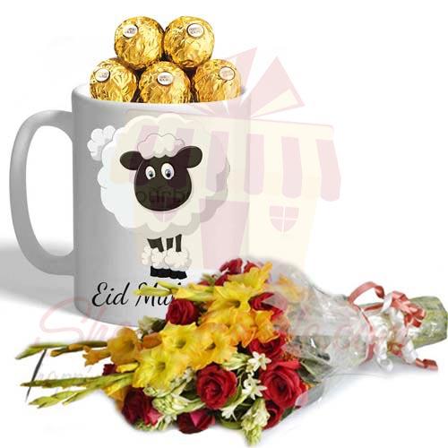 Bouquet With Eid Choco Mug