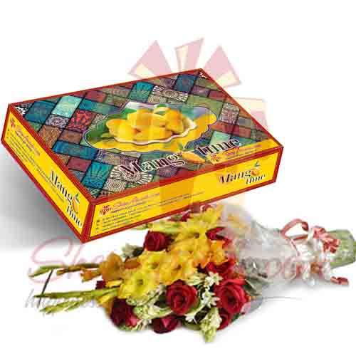 Mango Box With Flowers