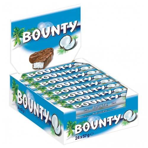 Bounty Chocolates Box 24 Bars 50gms Each