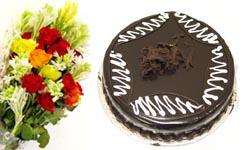 Flowers Bouquet Cake 4 LBS