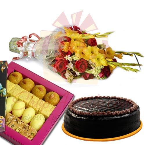 Cake Mithai Flowers