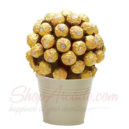 Round Ferrero Bucket
