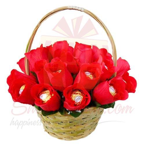 Choco Rose Basket