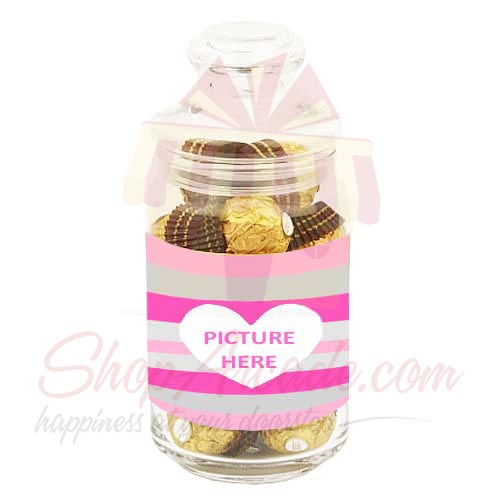 Picture Jar With Ferrero