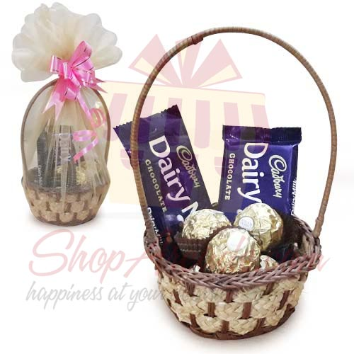 Cadbury Rocher Basket (Small)
