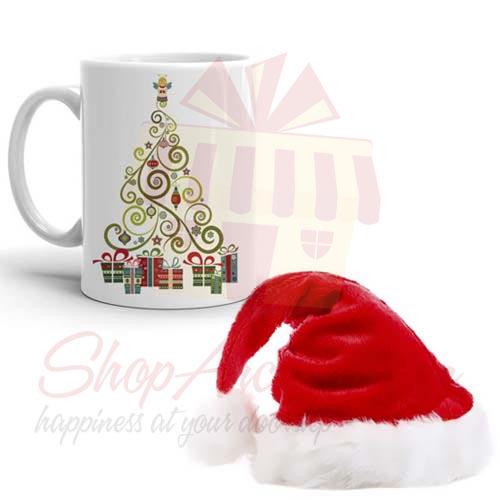 Mug With Santa Cap