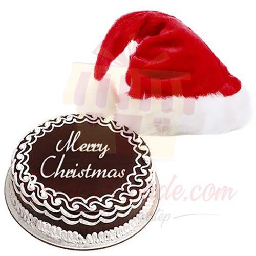 Santa Cap With Cake