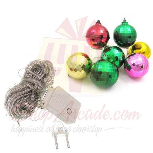 Xmas Balls With Lights