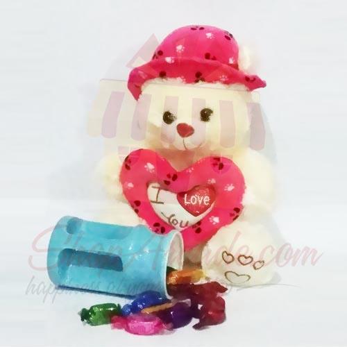 Teddy With Chocolate Mug
