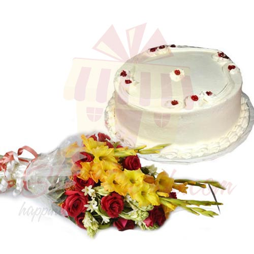 Flowers With Sugar Free Cake