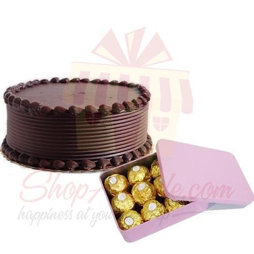 Ferrero Tin With Choc Cake