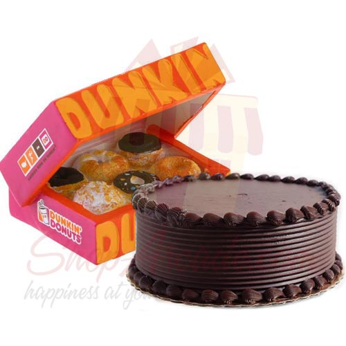 Donuts With Choc Cake