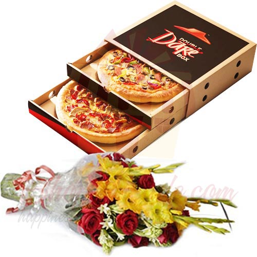Bouquet With Pizza Hut Deal