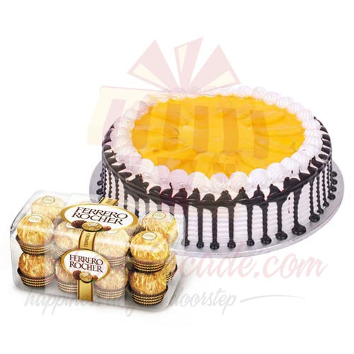 Chocs And Mango Cake