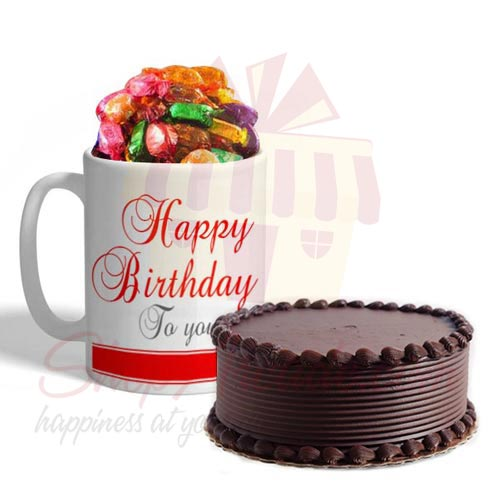 B Day Choco Mug With Cake