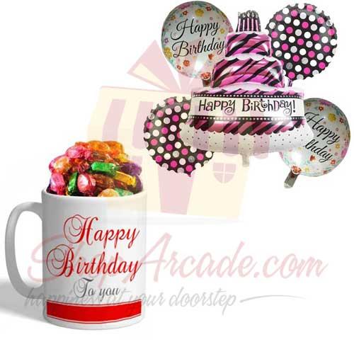 B Day Choco Mug With Balloon
