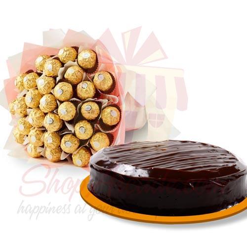 Cake With Ferrero Bouquet