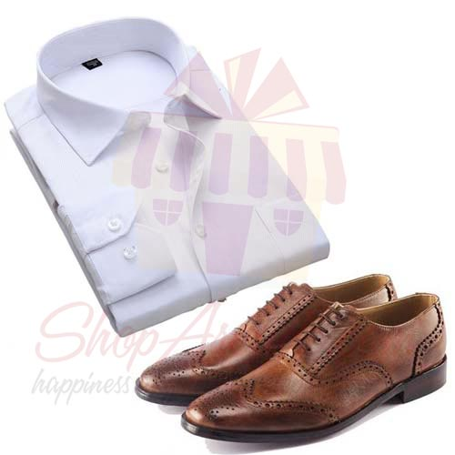 Leather Shoes With Shirt