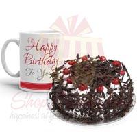 Bday Mug With Cake