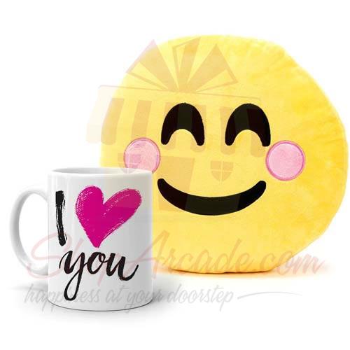 I Love You (Cushion With Mug)