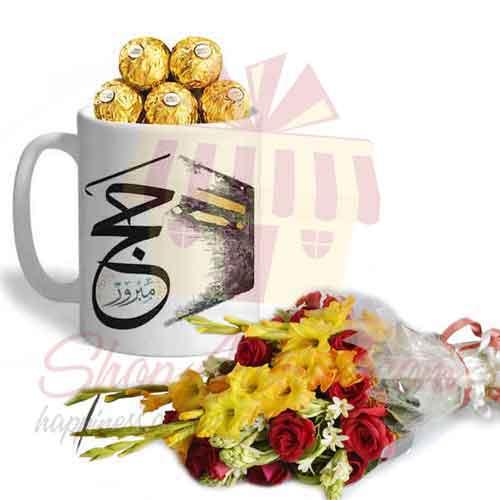 Hajj Ferrero Mug With Bouquet