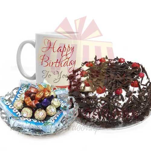 Cake Mug And Choc Tray
