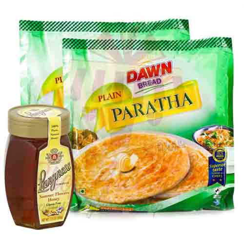 Honey With Frozen Paratha