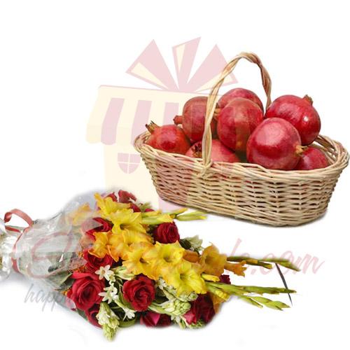 Anar Basket With Flowers