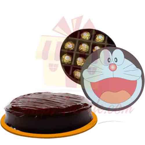 Doremon Chocolate Box With Cake