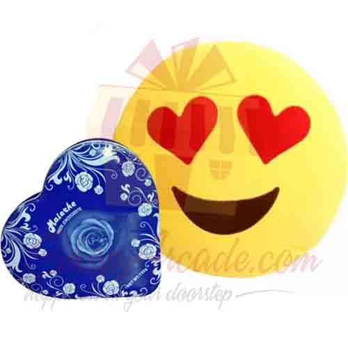 Heart Eyes Emoji With Heart Chocolate Box