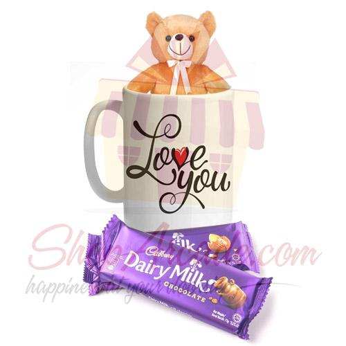 Teddy Mug With Chocolates