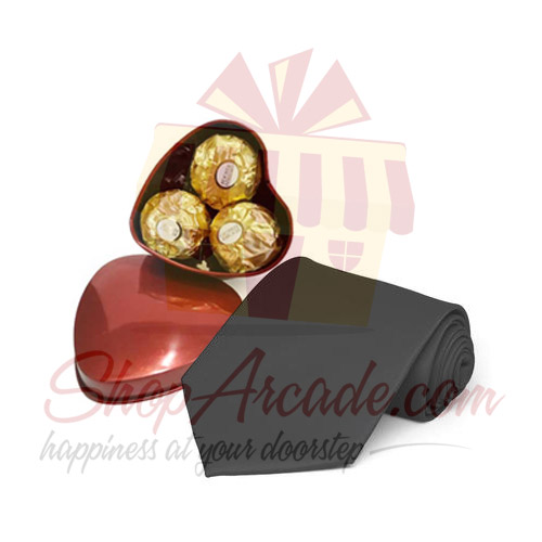 Choc Heart With Tie