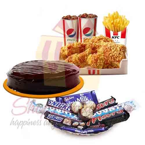 Cake KFC Deal With Choc Tray