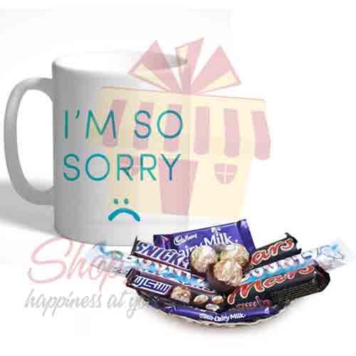 Sorry Mug With Choc Tray