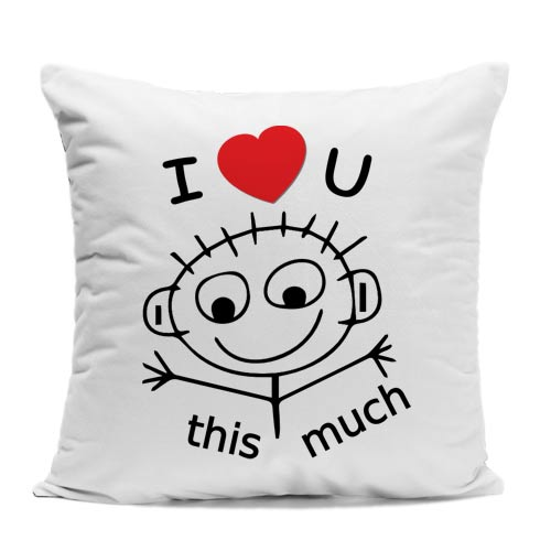 I Love You This Much Cushion