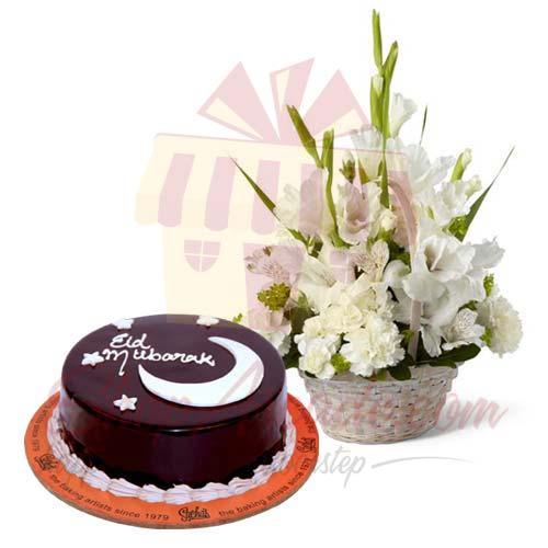 Glads Basket With Eid Cake