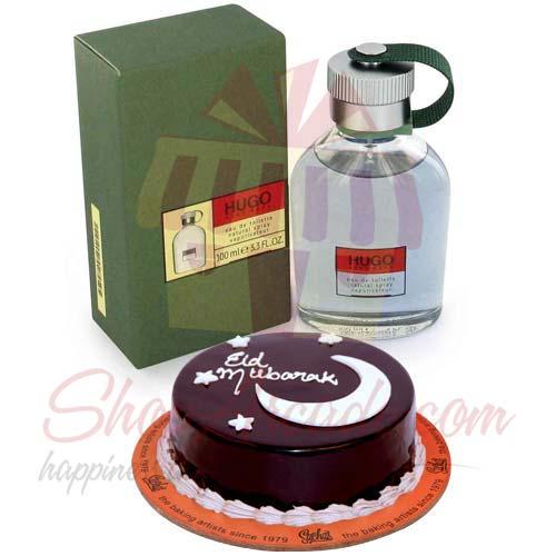 Hugo Boss With Eid Cake